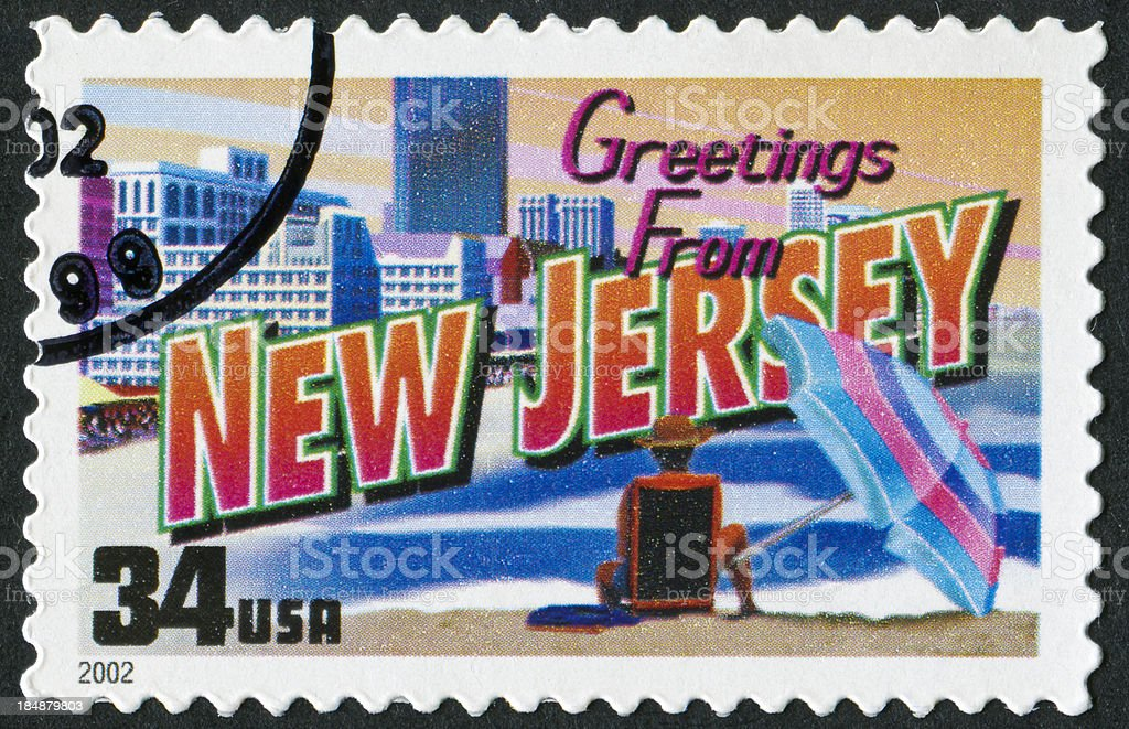 New Jersey Stamp stock photo