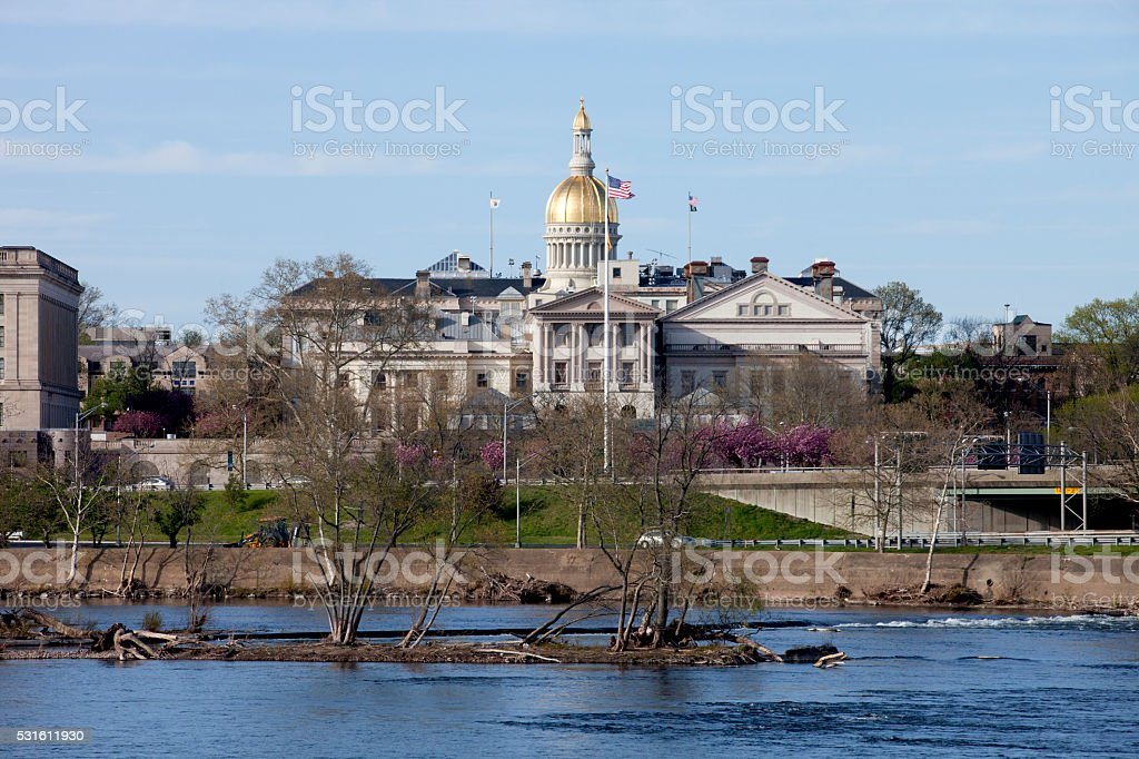 New Jersey State Capitol Building in Trenton stock photo