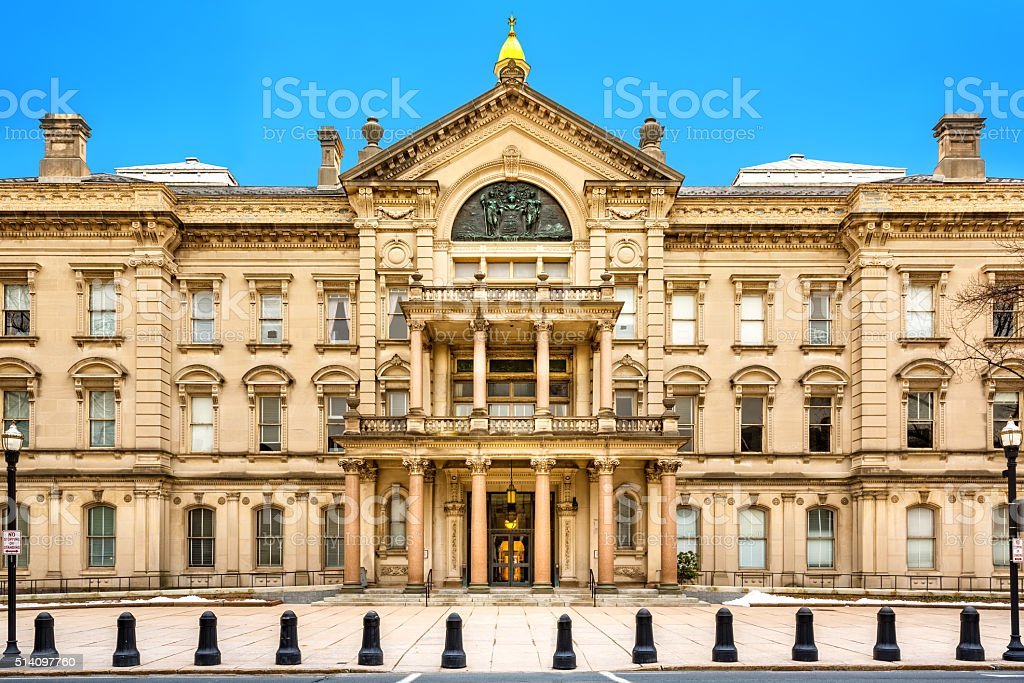 New Jersey State House on a sunny morning stock photo
