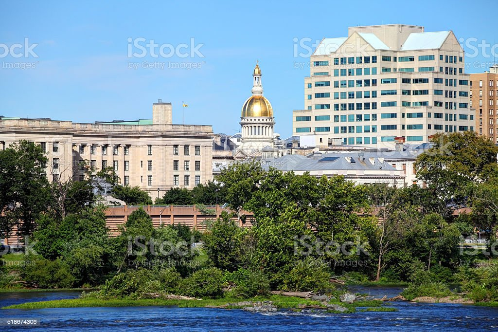 New Jersey State House stock photo