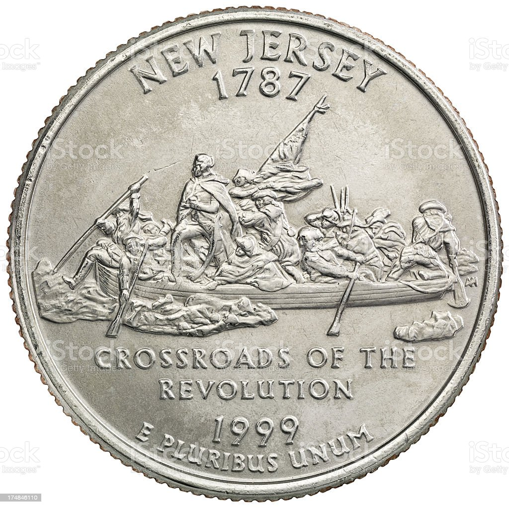New Jersey State Quarter Coin royalty-free stock photo