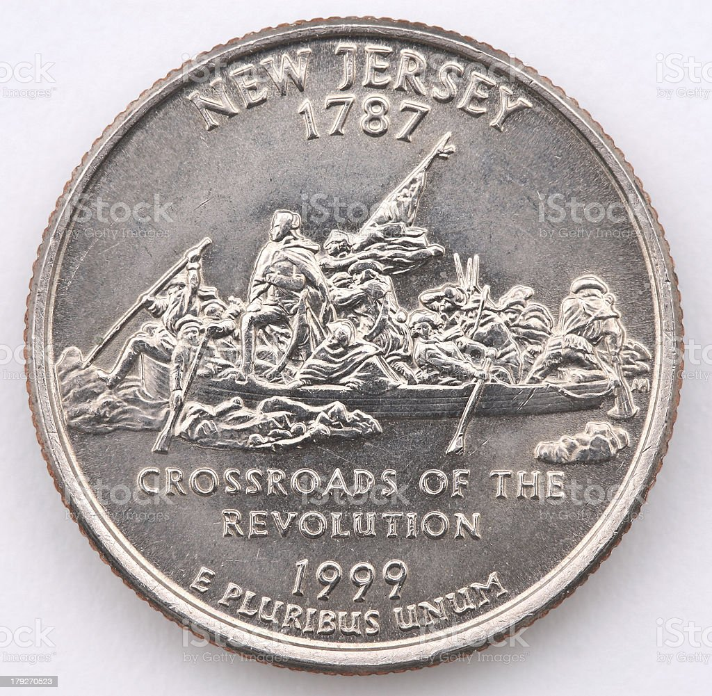 New Jersey State Quarter stock photo