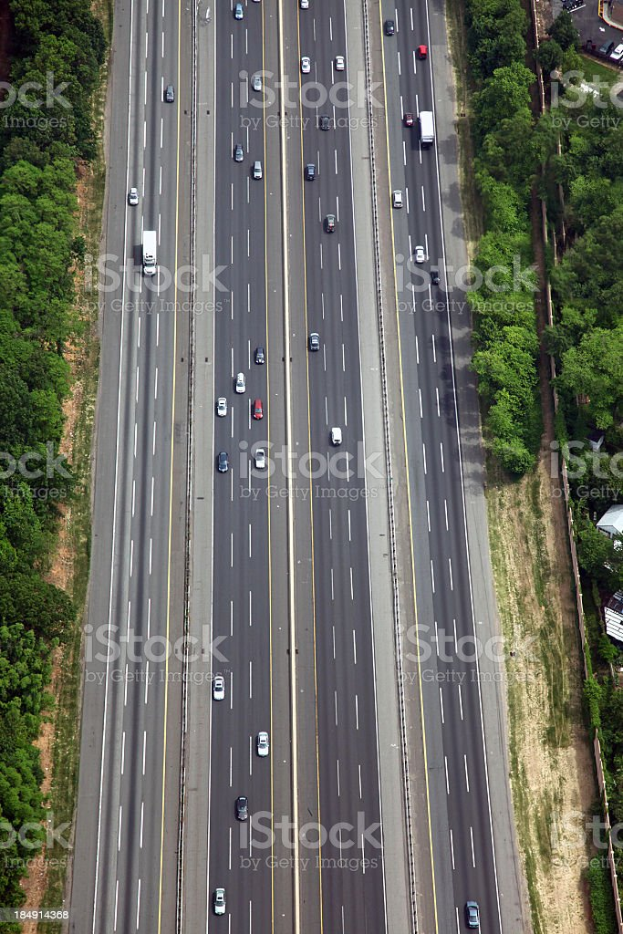 New Jersey Turnpike Aerial stock photo