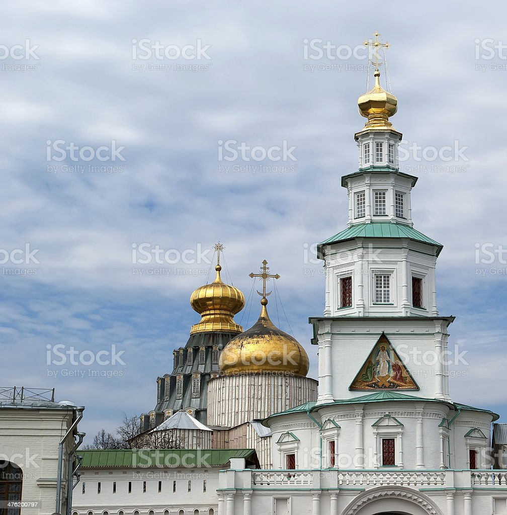 New Jerusalem in town Istra, surroundings of Moscow, Russia. stock photo