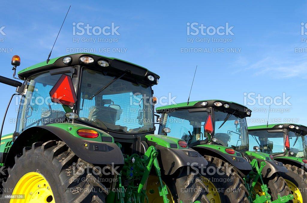 New John Deere Tractors stock photo