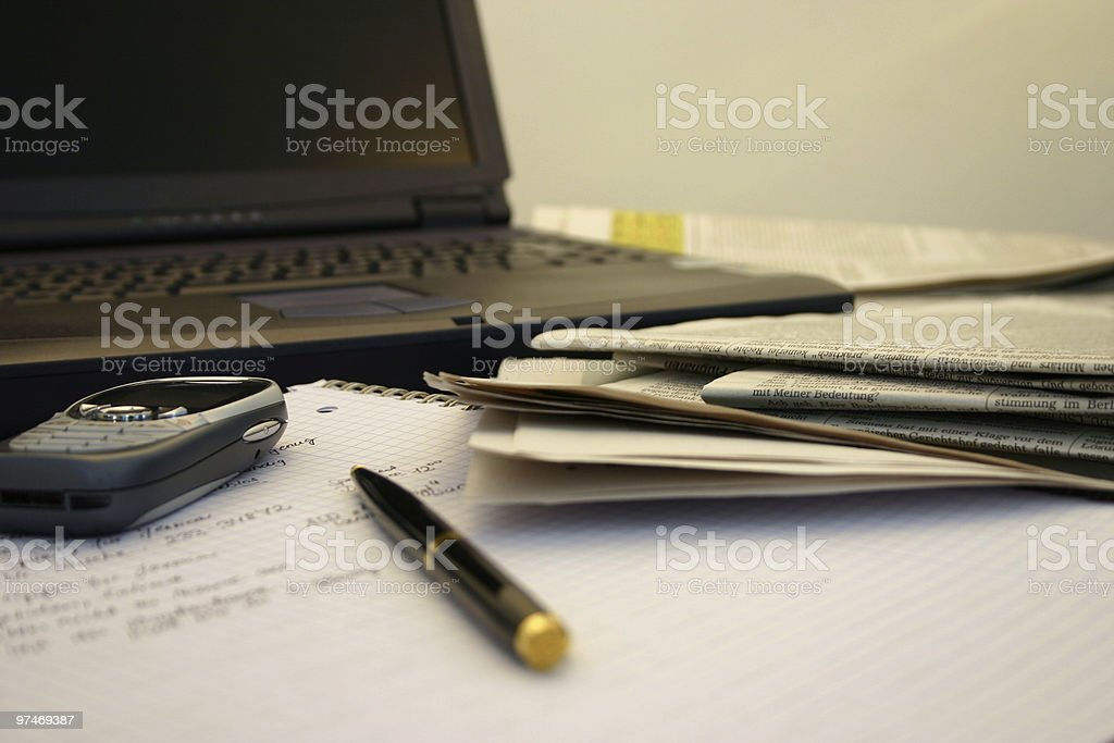 new journalist stock photo