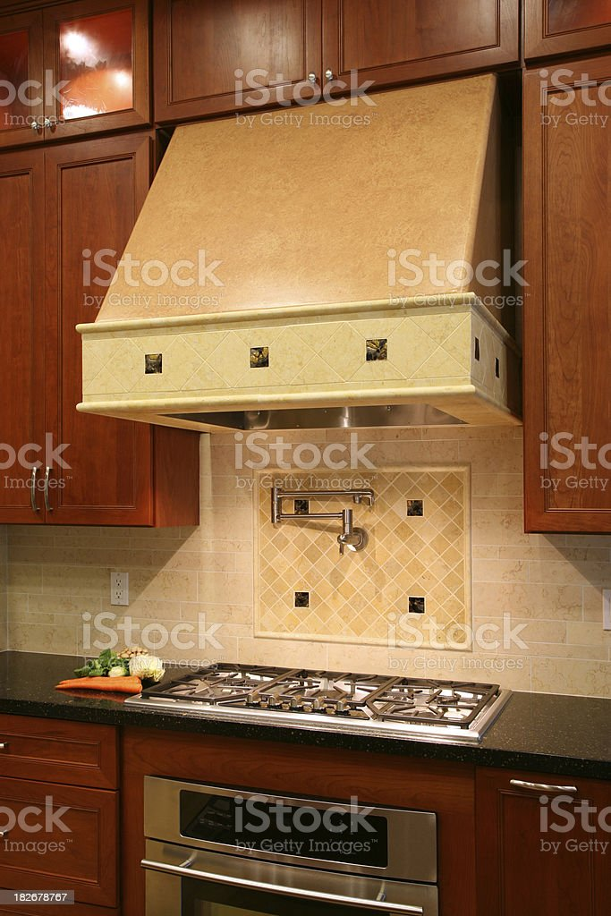 New Kitchen and Cabinet royalty-free stock photo