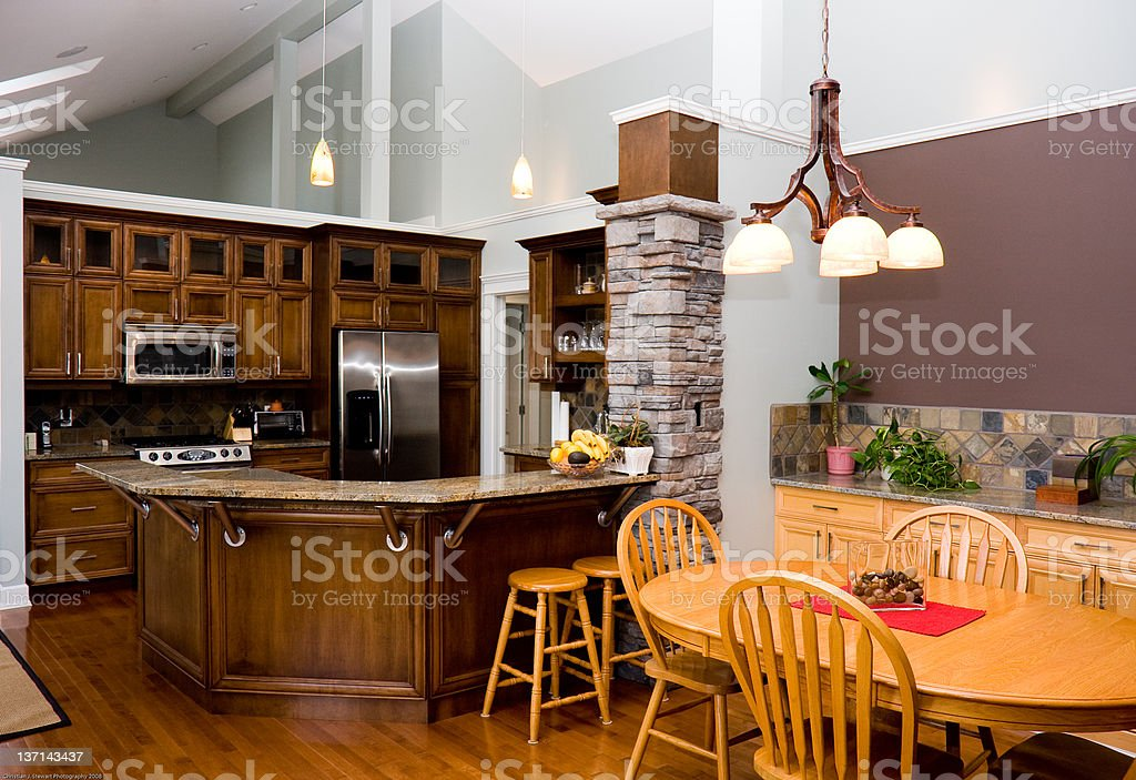New Kitchen and Dining Room royalty-free stock photo