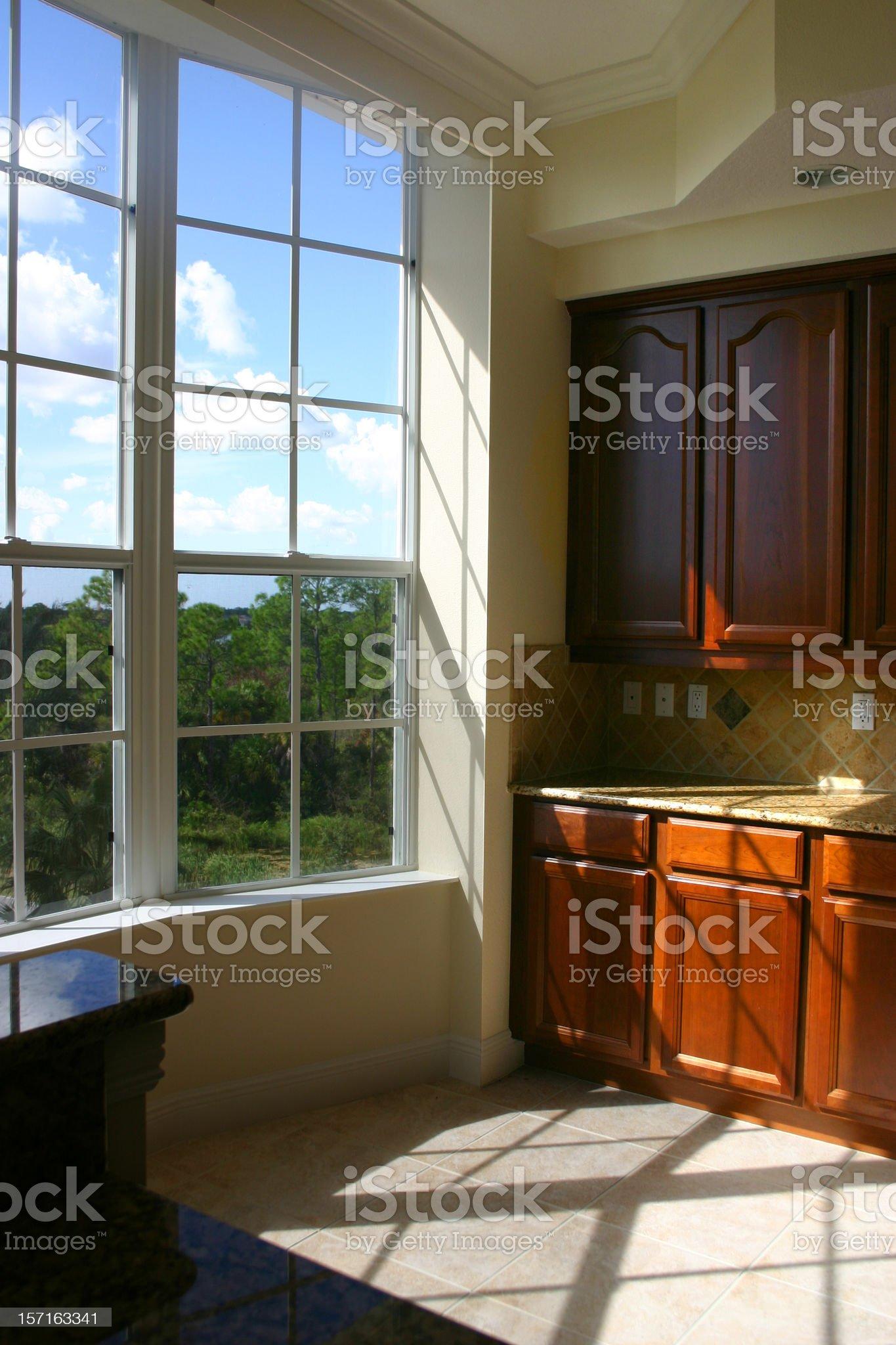 New Kitchen, Bright Window royalty-free stock photo