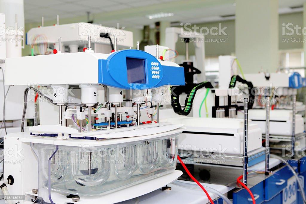 New laboratory equipment stock photo