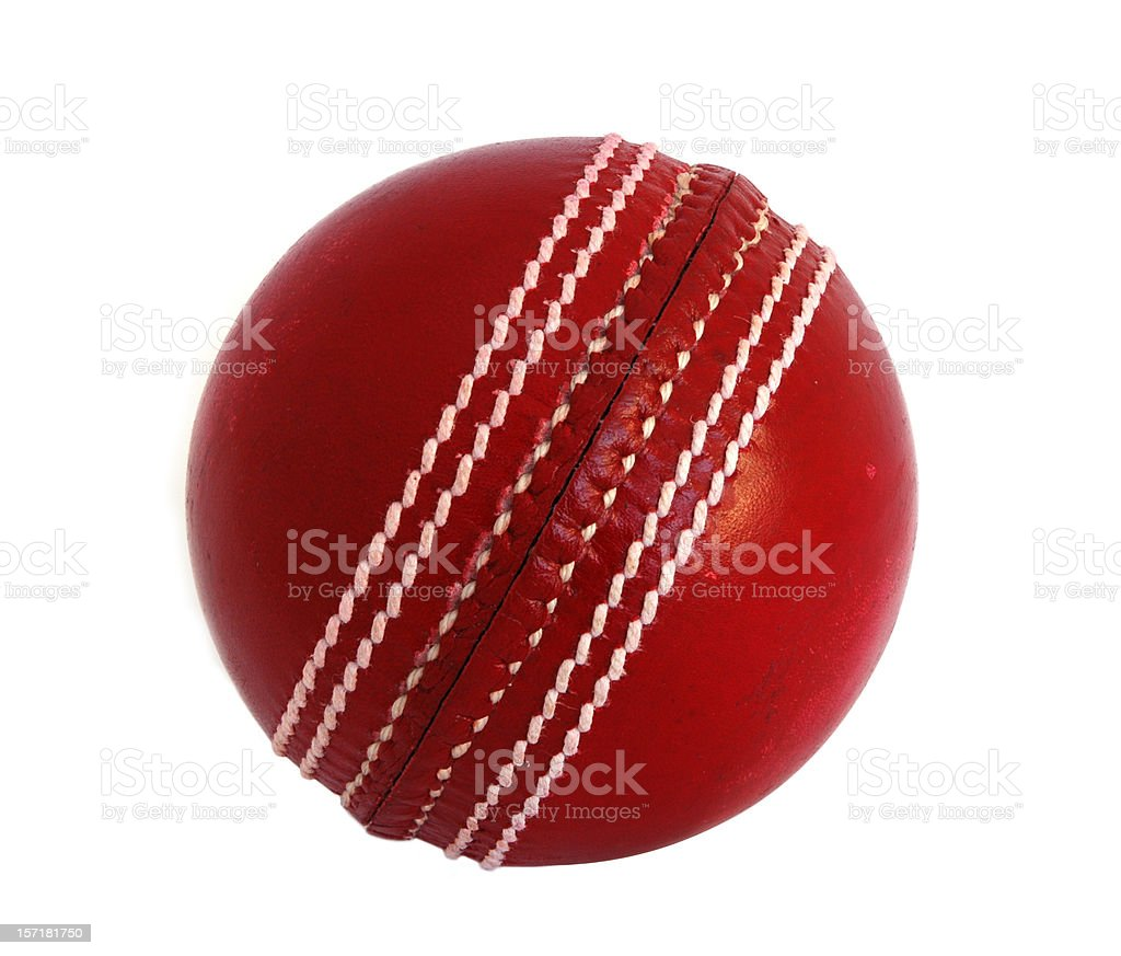 New leather Cricket Ball against white stock photo