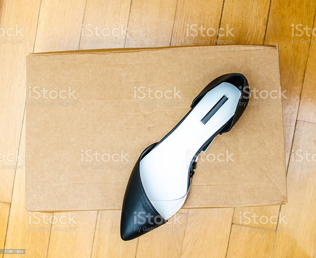 New leather summer collection shoes stock photo