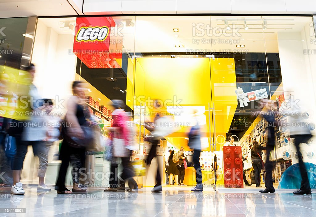 New Lego Store in Westfield Shopping Centre stock photo