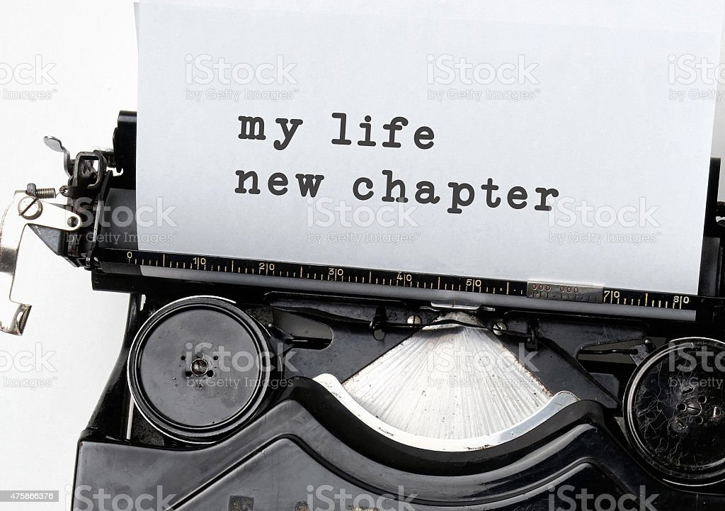 New life chapter stock photo