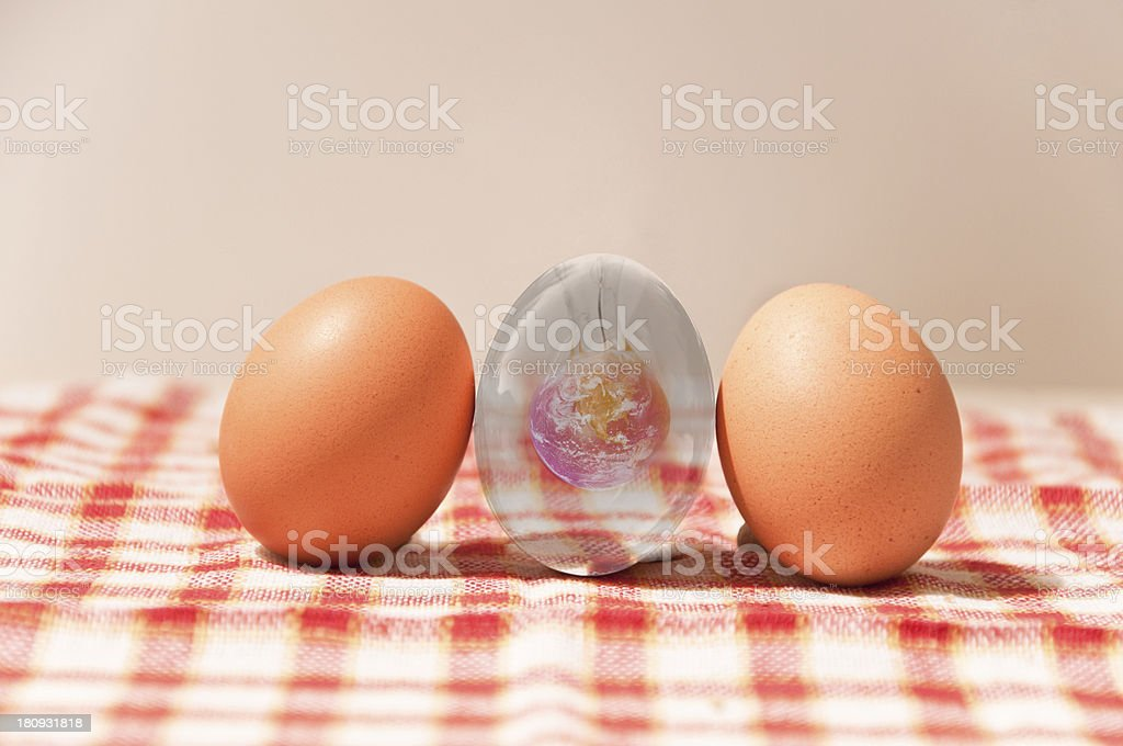 New life. Earth in egg. royalty-free stock photo