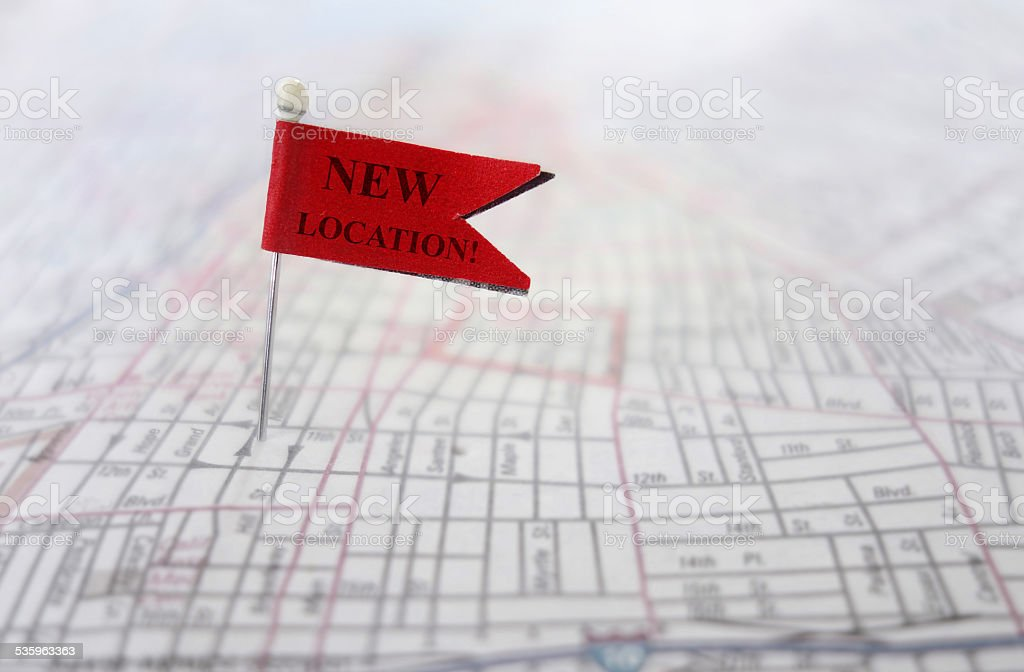 New Location stock photo