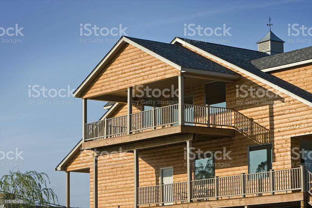 New Log Home stock photo