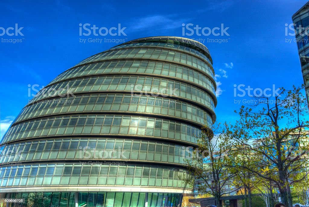 New London City Hall stock photo