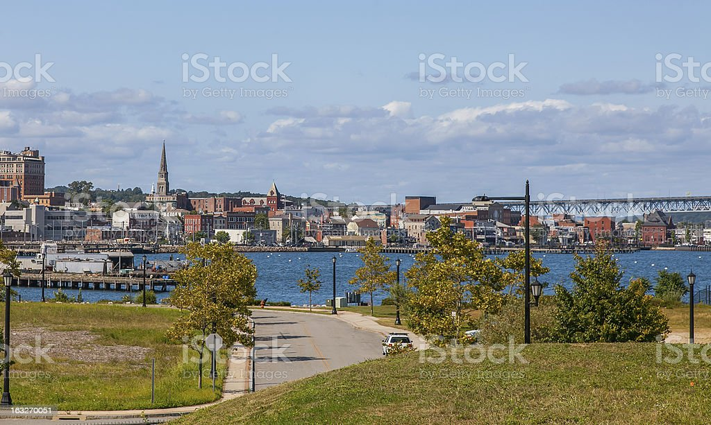 New London, Connecticut - Downtown royalty-free stock photo