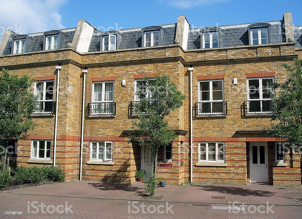 New London houses royalty-free stock photo