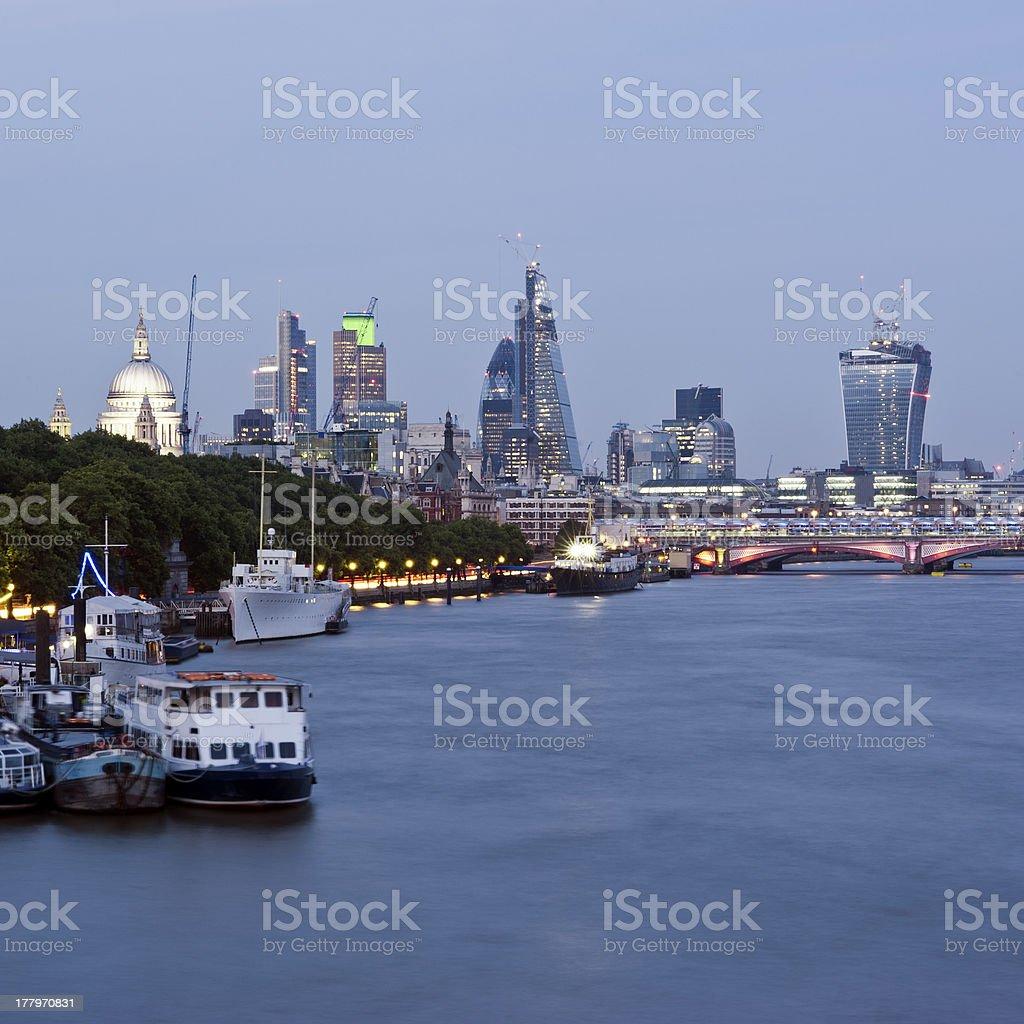 New London Skyline 2013 royalty-free stock photo