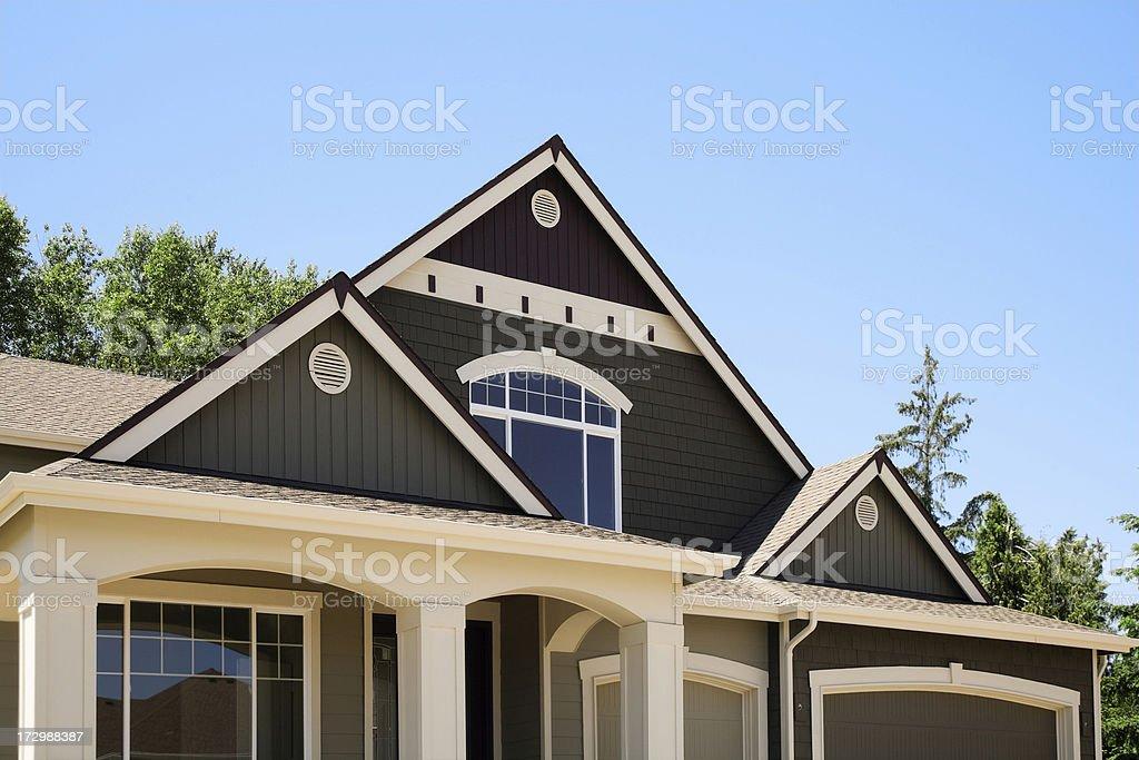 New Luxury Estate Home architecture design royalty-free stock photo