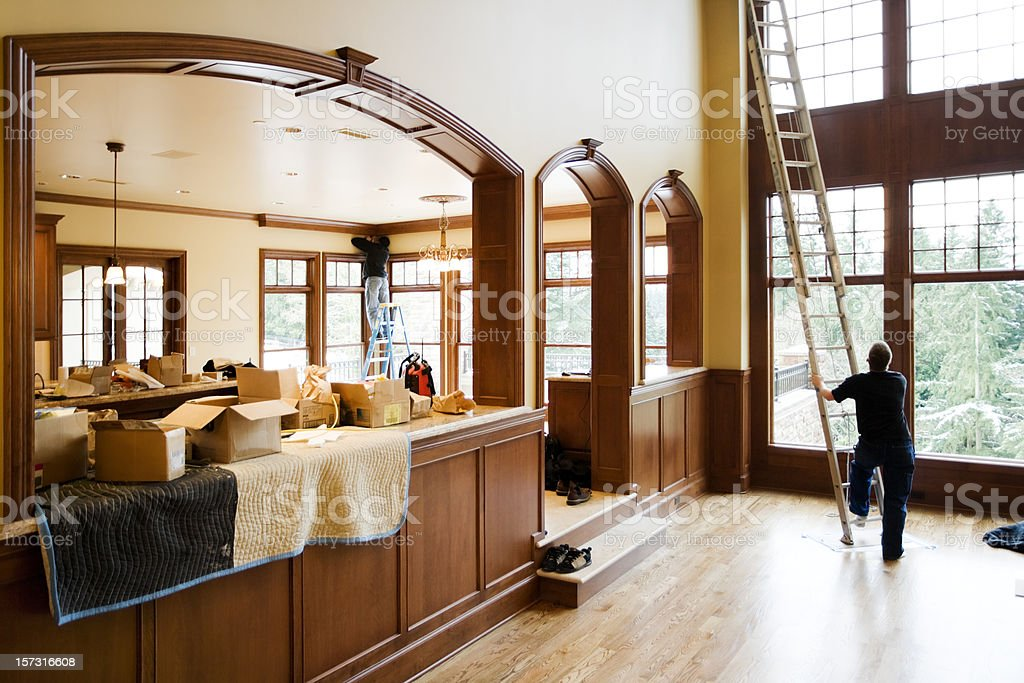 New Luxury Home in Finishing Phase royalty-free stock photo