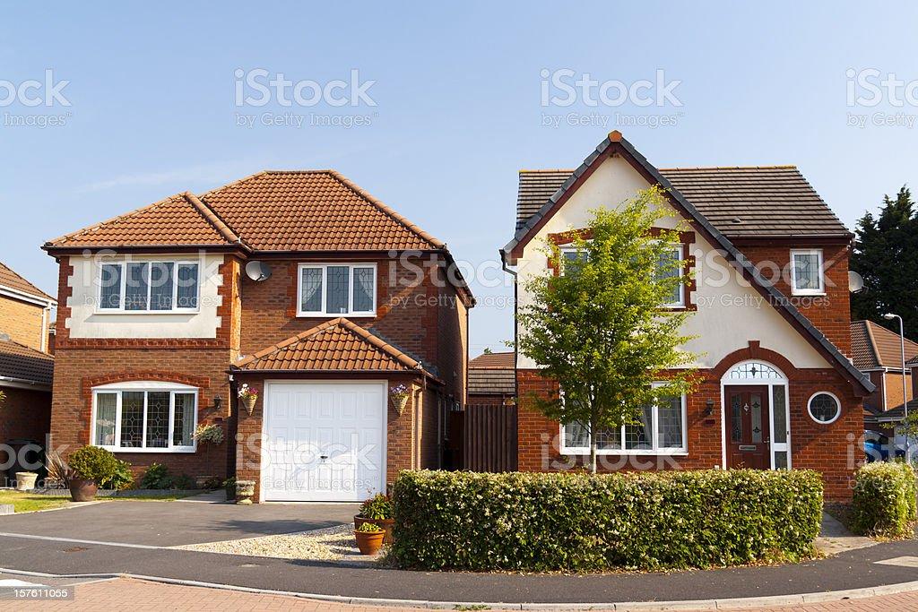 New luxury homes stock photo