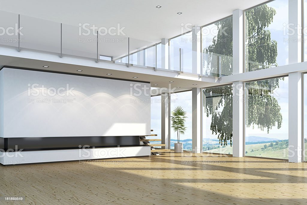 New Luxury Villa Interior royalty-free stock photo
