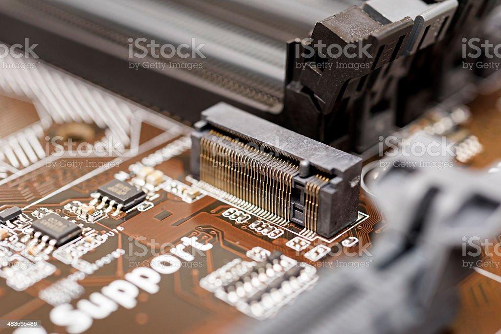New mainboard stock photo