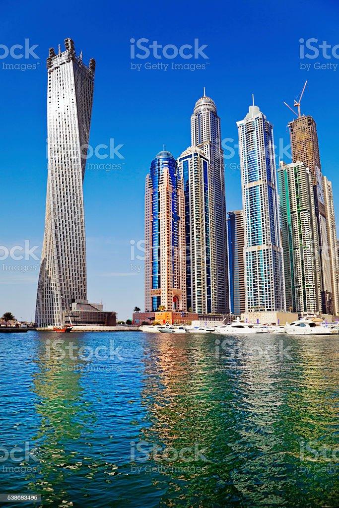New Marina of Dubai stock photo