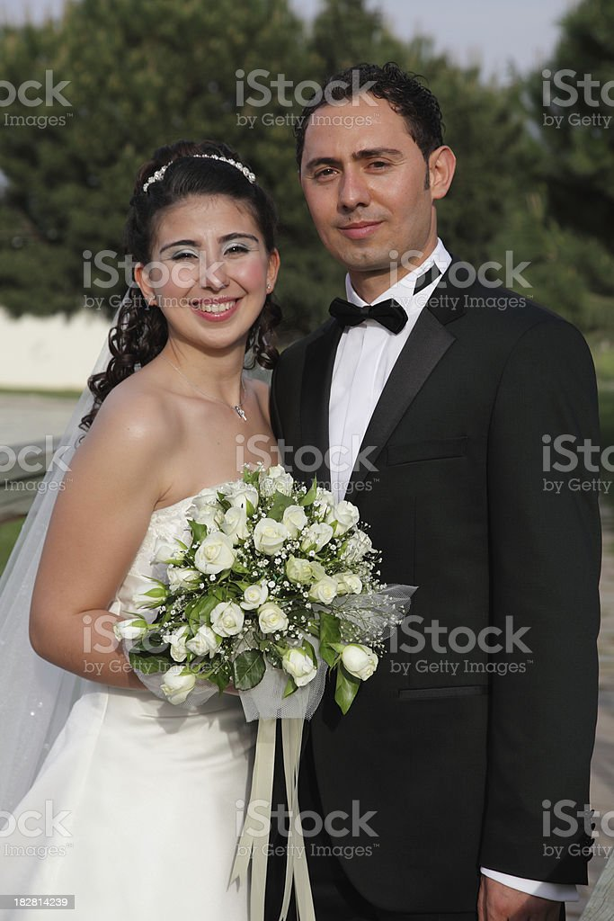 new married couple royalty-free stock photo
