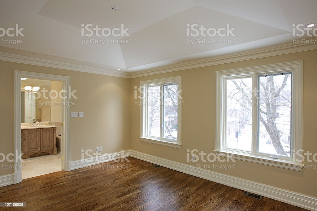 New Master bedroom. royalty-free stock photo