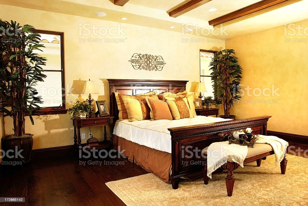 New Master Bedroom royalty-free stock photo