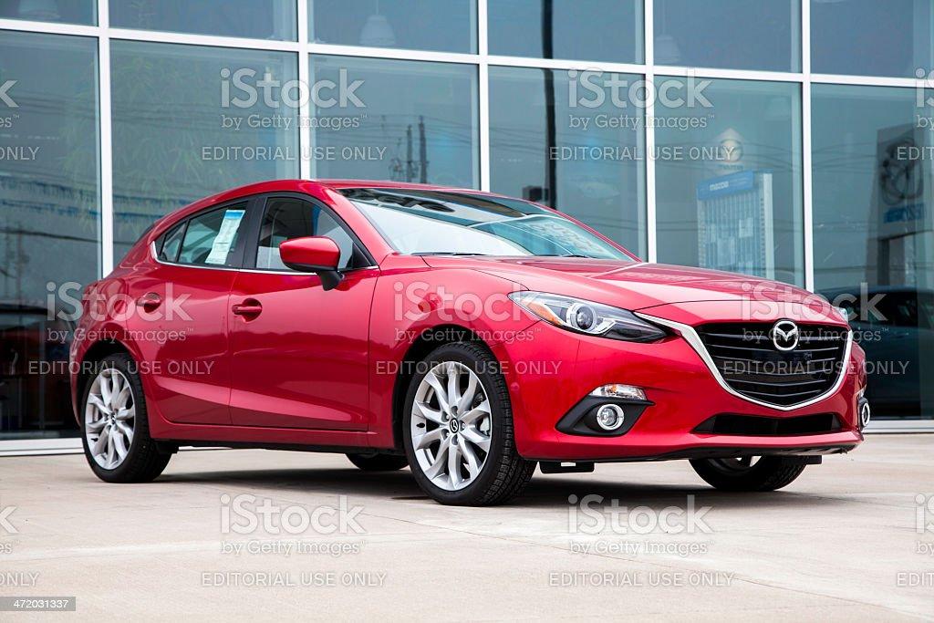 New Mazda 3 Hatchback royalty-free stock photo
