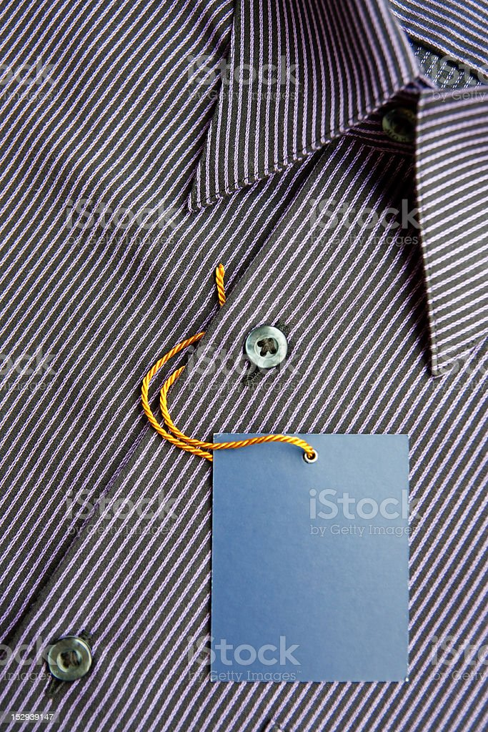 New men's shirt and  label royalty-free stock photo