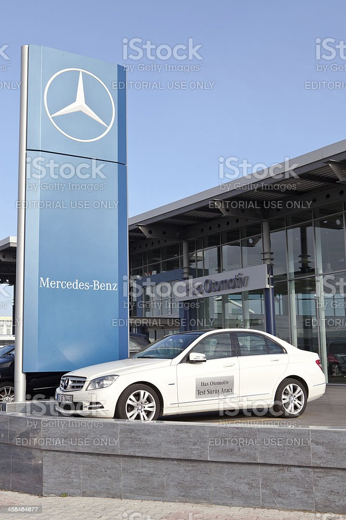 New Mercedes Benz C-Class Vehicle at Car Dealership royalty-free stock photo