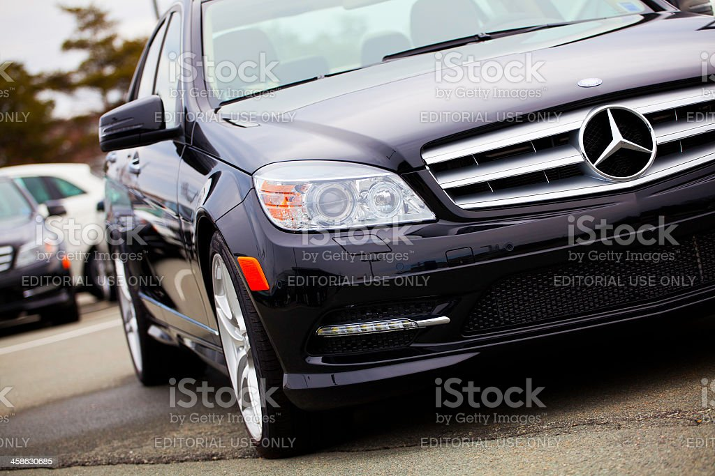 New Mercedes Benz C-Class Vehicle royalty-free stock photo