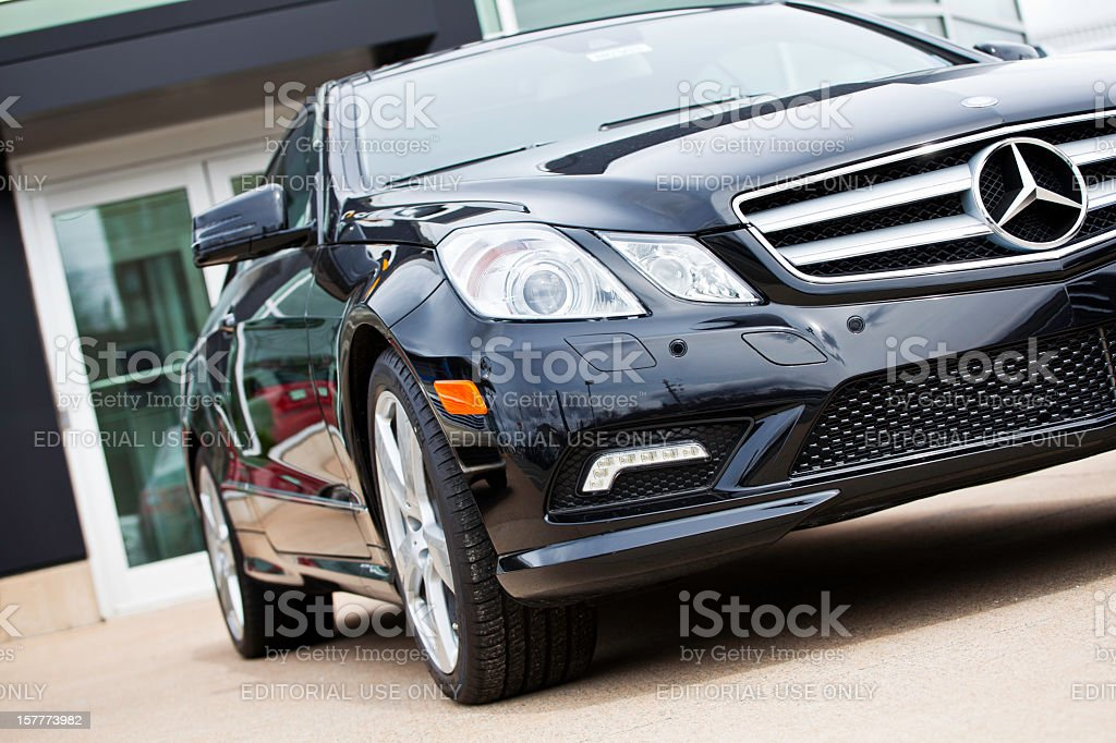 New Mercedes Benz E-Class Vehicle stock photo