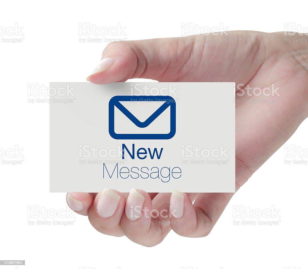 New Message stock photo