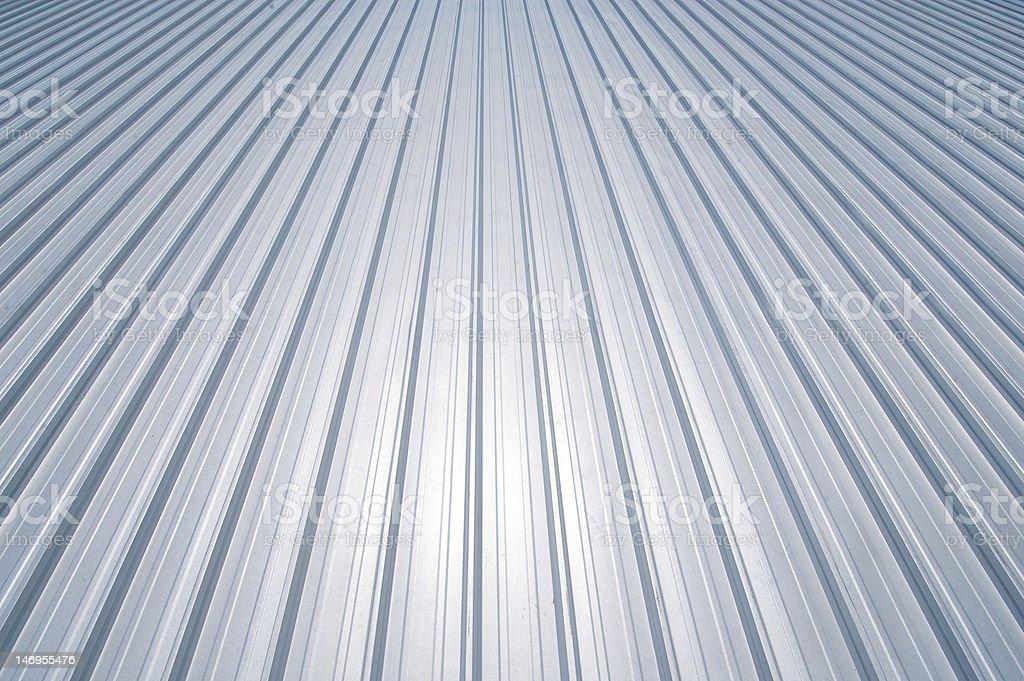 New metal roof stock photo