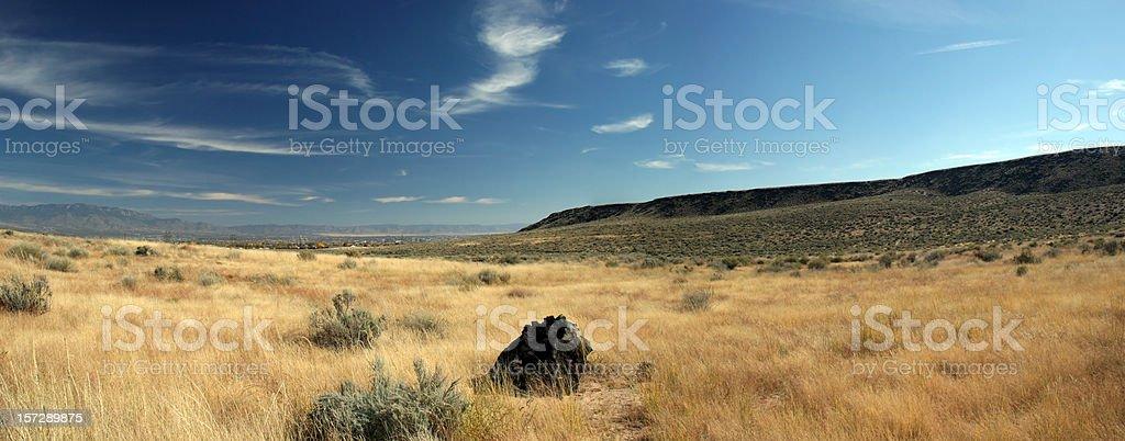 New Mexico Desert - Panorama royalty-free stock photo