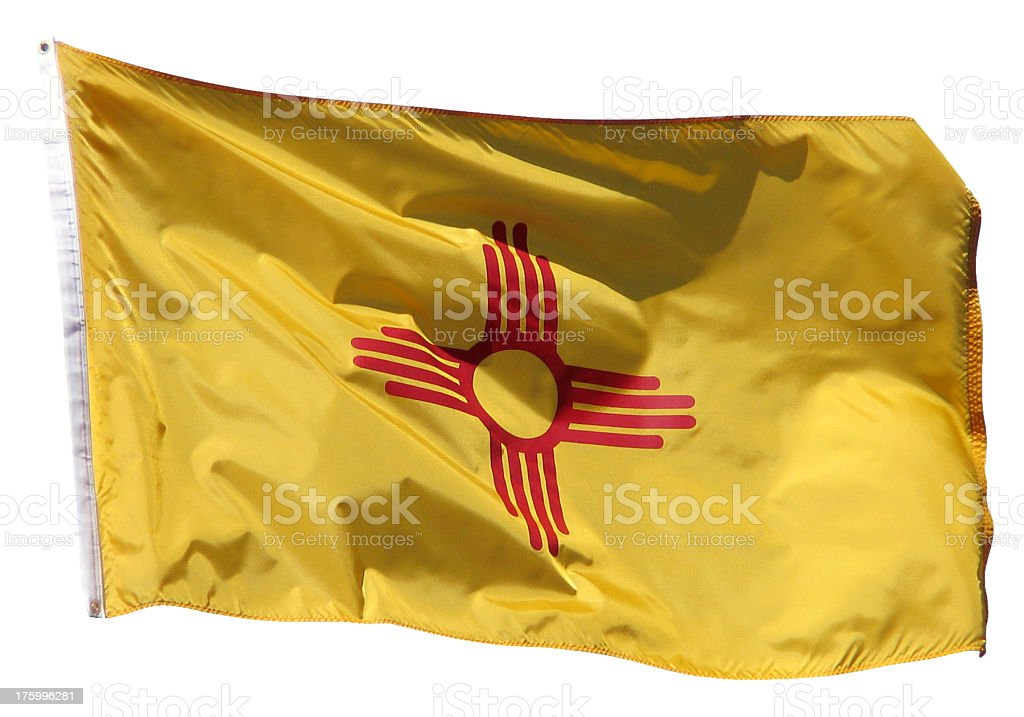 New Mexico Flag royalty-free stock photo
