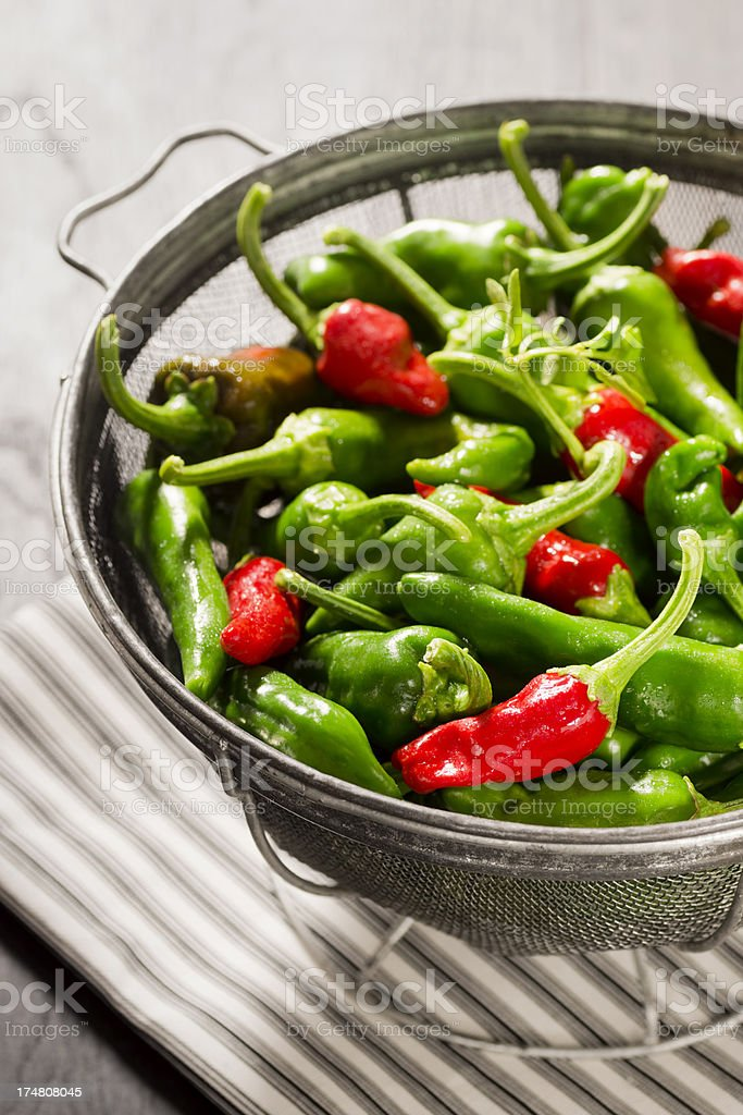 New Mexico Green and Red Chiles royalty-free stock photo