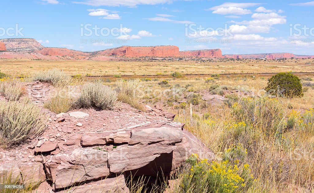 New Mexico high plains landscapes stock photo