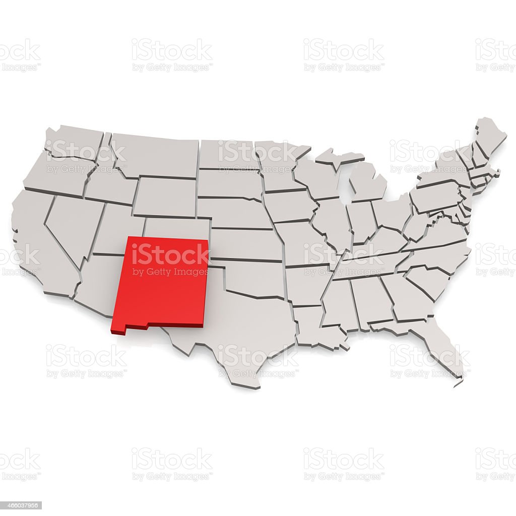 New Mexico map stock photo
