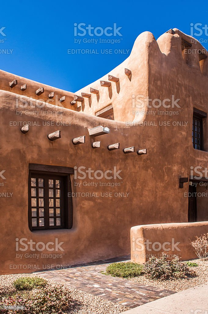 New Mexico Museum of Art in Santa Fe stock photo