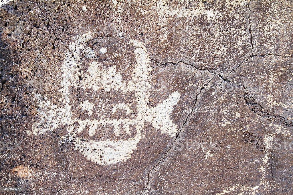 New Mexico petroglyph stock photo
