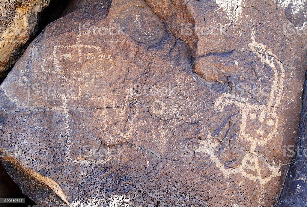 New Mexico petroglyphs stock photo
