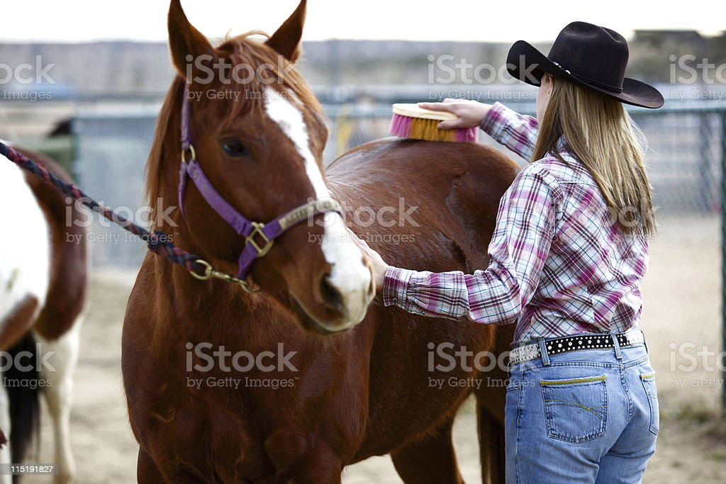 New Mexico rodeo girl royalty-free stock photo